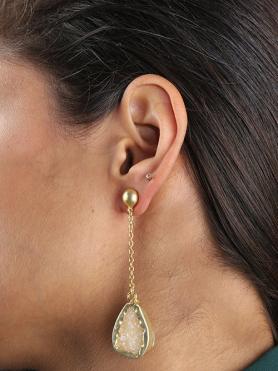 Beize Druzy Chain Drop Earrings
