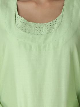Light Green Ivory Cotton Suit - Set of 3